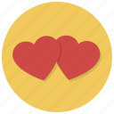 favorite, heart, hearts, love, valentine, valentines, wedding icon