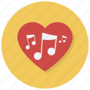 heart, love, music, note, notes, play, valentine icon