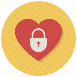 closed, heart, lock, locked, love, password, valentine icon