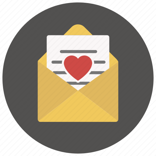 envelope, heart, letter, love, love letter, message, valentine icon