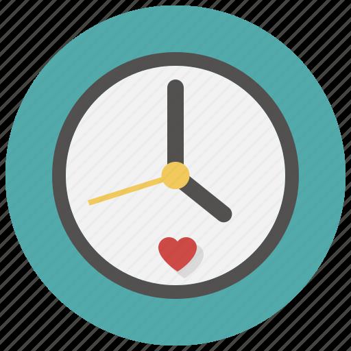 clock, love, meeting, time, valentine icon