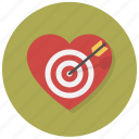 arrrow, heart, intent, love, shoot, target, valentine icon