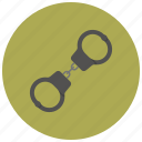 crime, criminal, handcuffs, love, passion, romantic, valentine icon