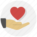 gesture, give, hand, heart, love, valentine icon
