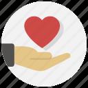gesture, give, hand, heart, love, valentine icon