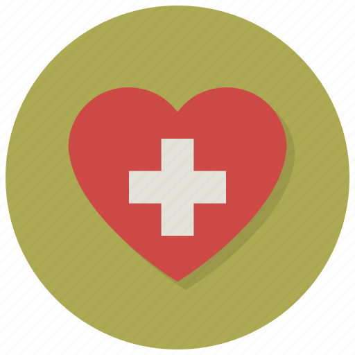 assistance, cross, heart, help, love, medicine, valentine icon