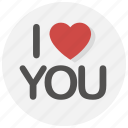 heart, i love you, love, romantic, valentine, valentine's day, valentines icon