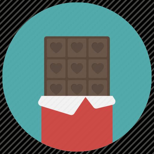 candy, chocolate, chocolate bar, food, sweet, valentine, valentine's day icon