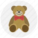bear, gift, love, present, teddy bear, valentine, valentines icon