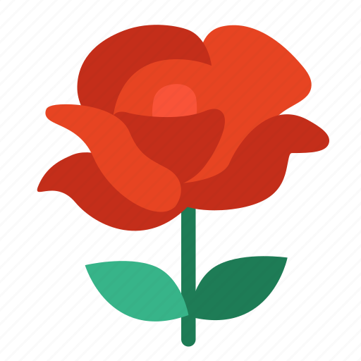 flower, love, rose, valentine icon