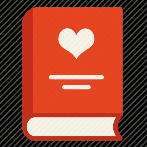 Book, heart, love, valentine icon - Download on Iconfinder