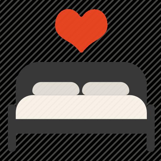 Bed, heart, hotel, love, sex, valentine icon - Download on Iconfinder