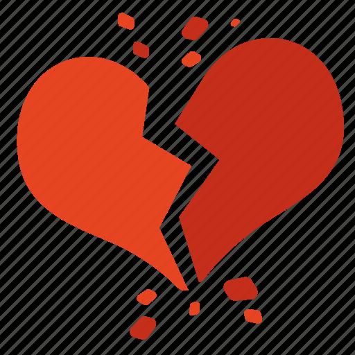 Broken heart, fail, heart, love, valentine icon - Download on Iconfinder