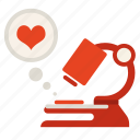 heart, lab, love, research, science icon