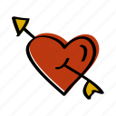 cupid, day, heart, love, valentine icon