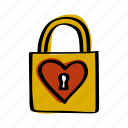 day, heart, key, lock, love, valentine, valentines icon