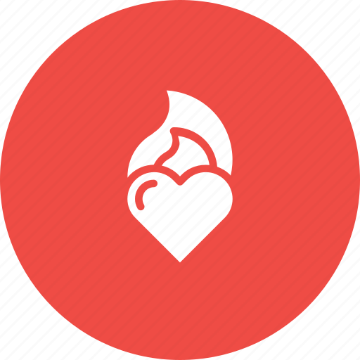 Burning, fire, flame, heart, love, valentine icon - Download on Iconfinder