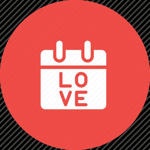 calendar, care, day, i, love, valentine, you icon