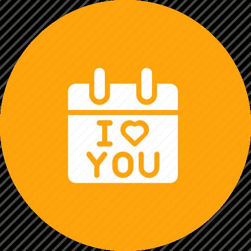 Calendar, day, i love you, present, propose, reminder, valentine icon - Download on Iconfinder