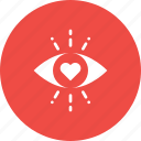 eye, feeling, first, heart, love, sight, valentine icon