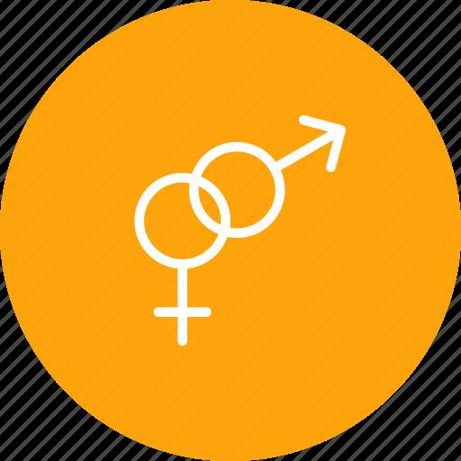 attraction, female, gender, male, sex, valentine icon