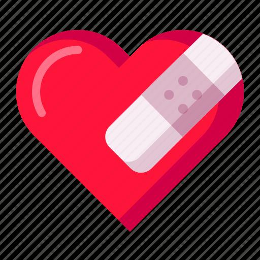 break, heal, heart, love, moveon, sorry, valentine icon