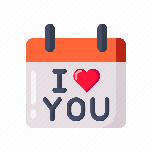 calendar, day, i love you, present, propose, reminder, valentine icon