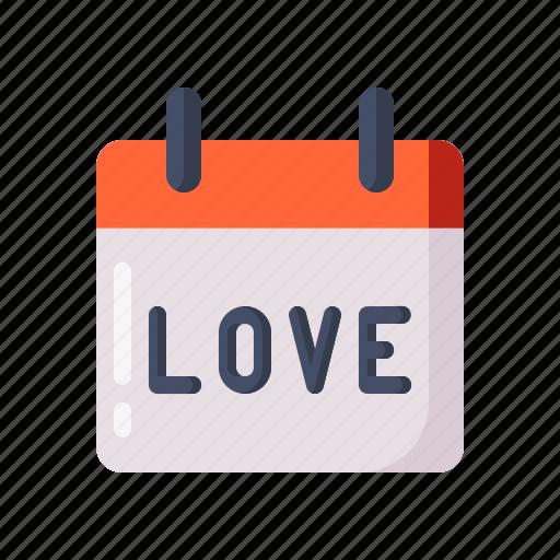 calendar, day, love, reminder, valentine icon