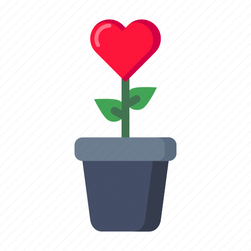 care, feel, grow, love, nature, plant icon