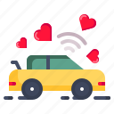 car, dancing, fall in love, hookup, makeout, sex, valentine icon