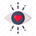 eye, feeling, first, heart, love, sight, valentine