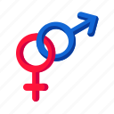 attraction, female, gender, male, sex, valentine icon