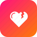 bakeup, heart, love, moveon, reject, relation, valentine icon