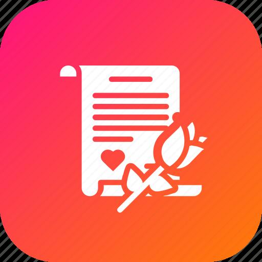 Gift, letter, love, propose, rose, valentine icon - Download on Iconfinder
