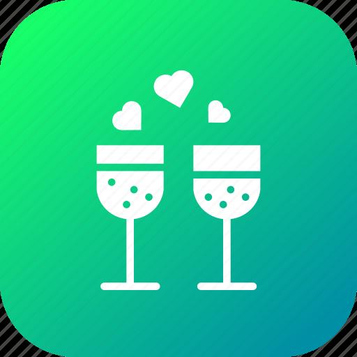 Champagne, date, dinner, drink, love, valentine icon - Download on Iconfinder