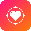 aim, heart, love, search, target, true, valentine icon