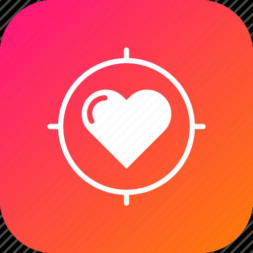 Aim, heart, love, search, target, true, valentine icon - Download on Iconfinder