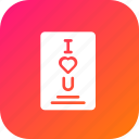 card, greetings, i, letter, love, valentine, you icon