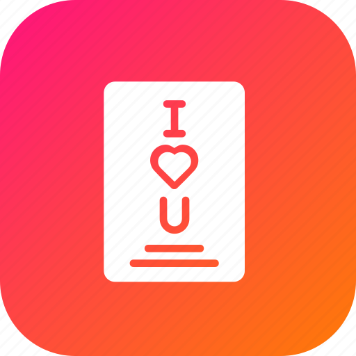 Card, greetings, i, letter, love, valentine, you icon - Download on Iconfinder