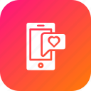 chat, device, flirt, love, message, mobile, valentine icon