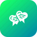 chat, chatting, love, message, talk, valentine icon