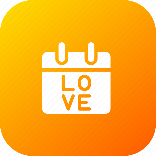 Calendar, care, day, i, love, valentine, you icon - Download on Iconfinder