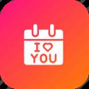 calendar, day, i love you, love, present, reminder, valentine