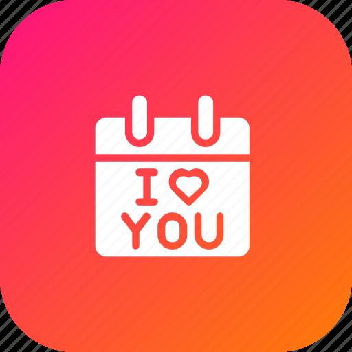 Calendar, day, i love you, love, present, reminder, valentine icon - Download on Iconfinder
