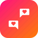 chat, communication, feeling, love, message, share, valentine