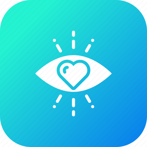 Eye, feeling, first, heart, love, sight, valentine icon - Download on Iconfinder
