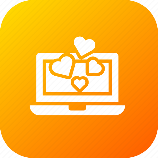 Chat, chatting, device, heart, laptop, love, valentine icon - Download on Iconfinder