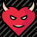 devilheart, devillove, heart, valentine icon