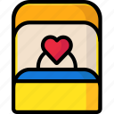 proposal, ring, ringbox, valentine icon