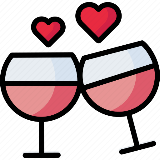 drink, love, romantic, valentine, vine icon